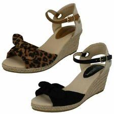 Ladies Savannah Mid Rope Wedge Sandals