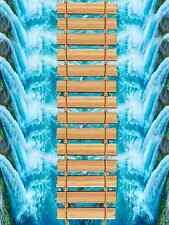 3D Pont Bois Fond d'écran étage Peint en Autocollant Murale Plafond Chambre Art