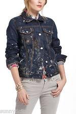 New Anthropologie Jean Shop Destroyed Denim Jacket sz S Distressed Trendy $440