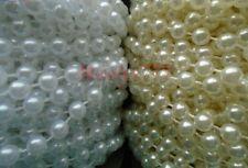 guirlande de perle,chaîne,ruban  5mm,ivoire/ blanc.décoration baptême mariage.