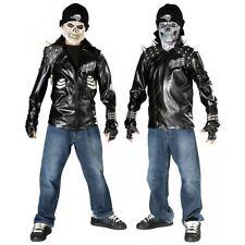 Skeleton Biker Costume Kids Halloween Fancy Dress