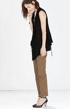 Pantaloni donna classici colore beige / cachi a sigaretta stretti cod 6096