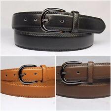 Homme cousu pantalon 3.5 cm solide business casual élégant design ceinture en cuir