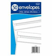Self Seal Envelopes 89 x 152mm Office Use Cash Wages School Money Envelopes