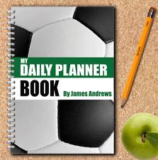 A5 Personalizado planificador diario, puestos de trabajo lista de tareas, Diario, programación diaria, Fútbol