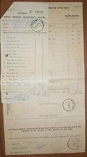 Malaya 1955 postal document for Dog & Bitch Licences etc used Kulim 1955