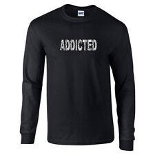 ADDICTED  Fitness exercise Gym Long Sleeve T-Shirt