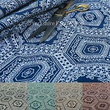 New Flat Weave Chenille Furnishing Upholstery Fabric New Medallion Kilim Pattern