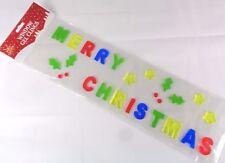 Christmas Window Decoration Gel Clings Stickers Decal Santa Reindeer Snowman
