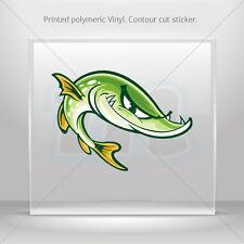 Sticker Decals Smart Fish Helmet Atv Bike polymeric vinyl Garage st5 RS978