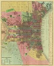 Old City Map - Philadelphia Pennsylvania - 1836 - 23 x 28.31