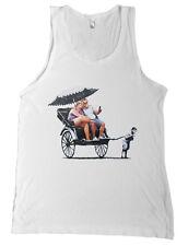 Banksy Fat People Tourists In Rickshaw Bella + Canvas Tank Top Shirt -NEW