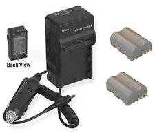 TWO EN-EL3A EN-EL3 ENEL3A ENEL3 Batteries + Charger for Nikon D50 D70 D70s D100