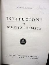 1937 BERNARDINI - ISTITUZIONI DI DIRITTO PUBBLICO