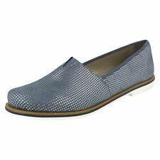 Donna Rieker 45551 BLU COMPLETO CASUAL sintetiche scarpe slip-on