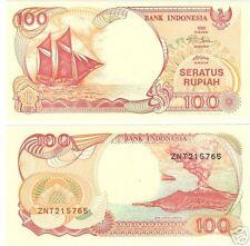 INDONESIA GEM UNC SAILBOAT 100 RUPIAH CRISP NOTE~FR/SHI