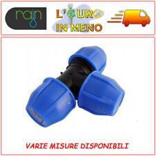 RACCORDO A COMPRESSIONE A TEE A 90° PN16 RAIN PER IRRIGAZIONE TUBO POLIETILENE