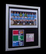 Manchester City 1970 LEAGUE CUP FINAL Ltd non avrebbe incorniciato + spedizione internazionale Express