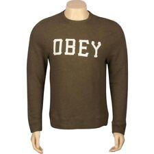 $58.00 Obey Slider Crewneck (olive) 111600003OLI