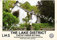Vintage Style Railway Poster Lake District Dove Cottage  A4/A3/A2 Print