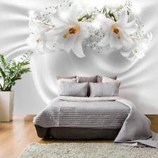 Fototapete Blumen Vlies Tapete Lilien Wandbild xxl Wandtapete weiß b-C-0158-a-a