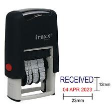 Date stamp-texte reçu-traxx 7850 auto encrage tampon en caoutchouc-mini dater