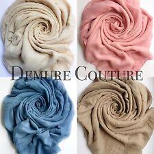 Oversized Soft Luxury Quality Cotton Mix Scarf Hijab Sarong Neck Wrap Shawl