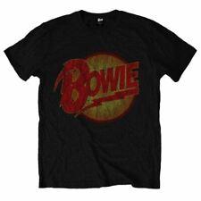 Official Licensed Men's David Bowie Diamond Dogs Vintage Crew Neck T-Shirt