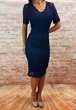 Abendkleid kurz Cokctailkleid Spitzenkleid Minikleid Kleid Spitze Gr. 36 - 60