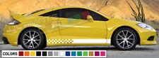 Decal sticker kit Stripe turbo For Mitsubishi Eclipse Carbon tune 1991 2011 body