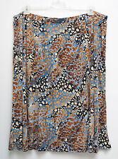 NEU Übergröße schicker Damen Stretch Rock tolle Farbkombination Gr.56,60,62