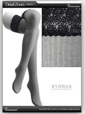 Veneziana Ar Costina Ii Over-the-knee Black Lace Grey Ribbed leggings Hold Ups