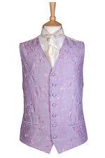 PINK LILAC SWIRL ROMA WEDDING DRESS WAISTCOAT ALL SIZES £10 WAIST COAT