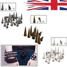 Spike Long Cone Punk Studs Rivets 29x10mm for Leathercrafts Clothes Shoes 100pcs