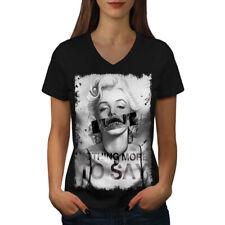 Monroe People Celebrity Women V-Neck T-shirt NEW   Wellcoda