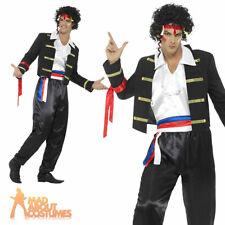 Mens 1980s New Romantic Adam Ant Costume Mens Pop Star Fancy Dress Outfit