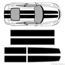 Porsche 718 or 911 EZ Rally Racing Stripes 3M Vinyl Stripe Decals Graphics