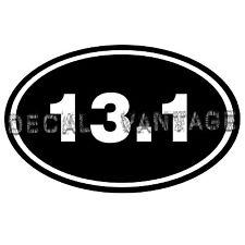 13.1 Vinyl Sticker Decal Euro Oval Run Marathon Race - Choose Size & Color