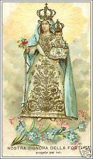 SANTINO HOLY CARD TELA CANVAS NOSTRA SIGNORA DELLA FORTUNA