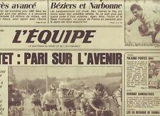 journal  l'equipe 17/09/84 CYCLISME TOUR DE L'AVENIR MOTTET RUGBY FOOT