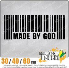 Made by God Barcode chf0731  in 3 Größen JDM  Heckscheibe Aufkleber