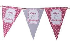 Personalised Polkadot Bunting Baby Shower Gallina Festa Di Compleanno Battesimo 60th
