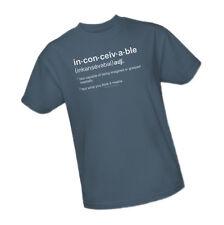 The Princess Bride - inconceivable - definitions -- Adult Size T-Shirt