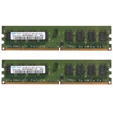 4GB 2x 2GB / 1G PC2-6400U DDR2-800 Dual Channel Desktop PC Memory For Samsung UK