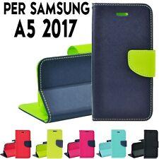 Custodia cover a portafoglio libro chiusura magnetica per Samsung A5 2017 (A520)