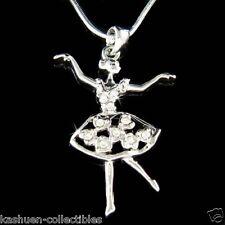 w Swarovski Crystal BALLERINA Heart Ballet Dance Girls Teacher Necklace New Gift