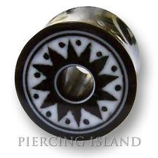 8mm/10mm/12mm/14mm CORNO Bone chirurgico Flesh Tunnel Ear Plug Orecchio Piercing 221