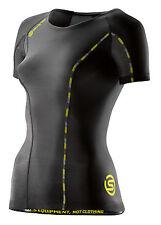 Skins DNAmic Compression Short Sleeve Top Damen Black/Limoncello (DA99060049240)
