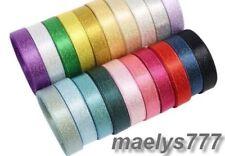 Ruban Satin 6mm Scintillant 2/5/10M couleur au choix mariage contenant à dragées
