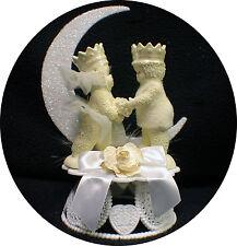 Your my Queen Wedding Cake Topper Snow Dream Princess & Prince Bride Groom top